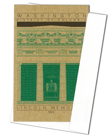 Lincoln Memorial - 1922 Green Miniature Digital Print