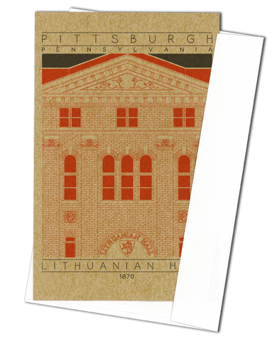 Lithuanian Hall - 1870 Orange Miniature Digital Print