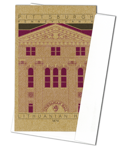 Lithuanian Hall - 1870 Purple Miniature Digital Print