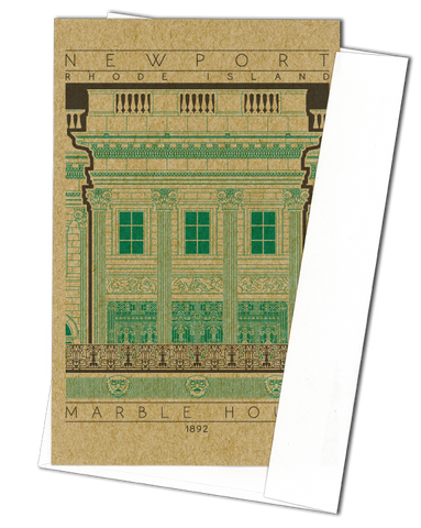 Marble House - 1892 Green Miniature Digital Print