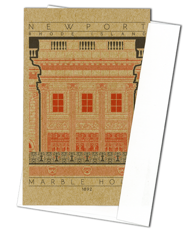 Marble House - 1892 Orange Miniature Digital Print