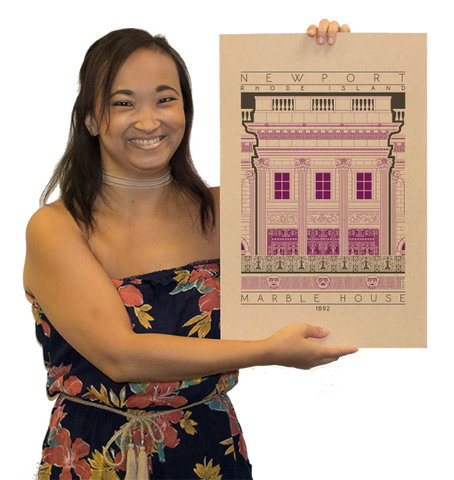 Marble House - 1892 Purple Digital Print