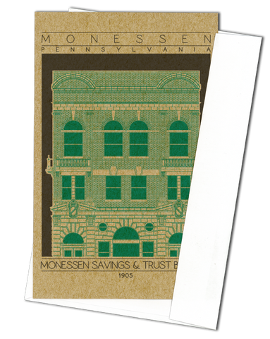 Monessen Savings & Trust Building - 1905 Green Miniature Digital Print