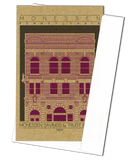 Monessen Savings & Trust Building - 1905 Purple Miniature Digital Print
