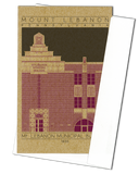 Mount Lebanon Municipal Building - 1930 Purple Miniature Digital Print