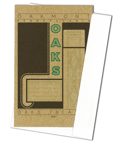 Oaks Theater - 1941 Green Miniature Digital Print