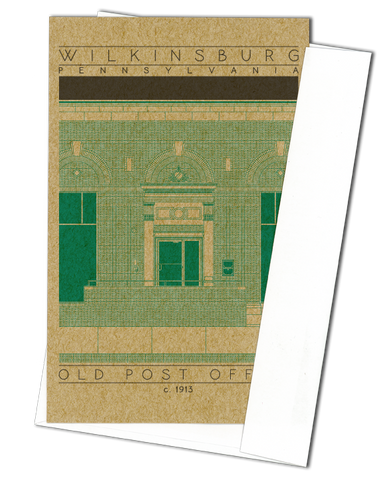 Old Post Office - c. 1913 Green Miniature Digital Print