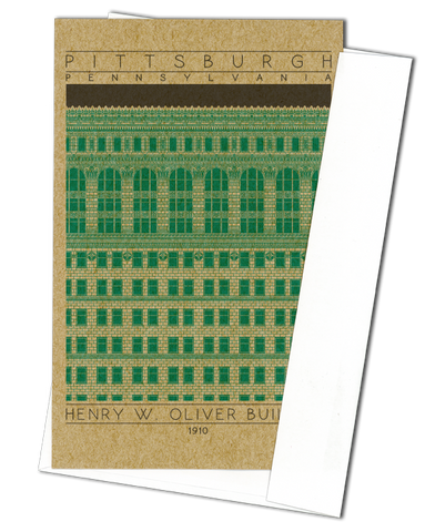 Henry W. Oliver Building - 1910 Green Miniature Digital Print