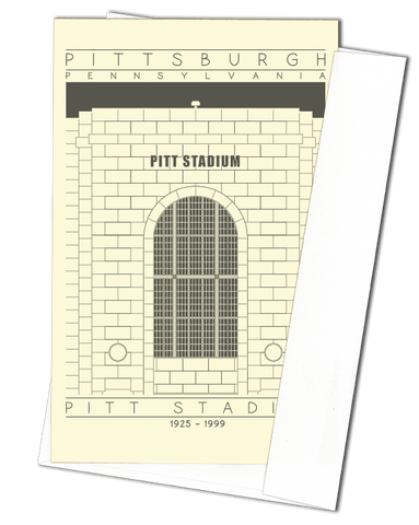 Pitt Stadium - 1925 - 1999 Black Miniature Digital Print