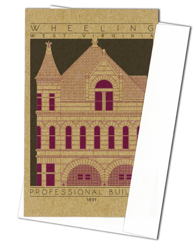 Professional Building - 1891 Purple Miniature Digital Print