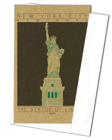 The Statue of Liberty - 1886 Green Miniature Digital Print