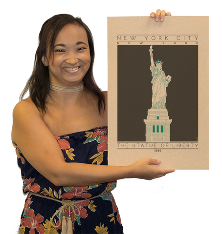 The Statue of Liberty - 1886 Green Digital Print