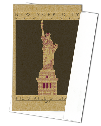 The Statue of Liberty - 1886 Purple Miniature Digital Print