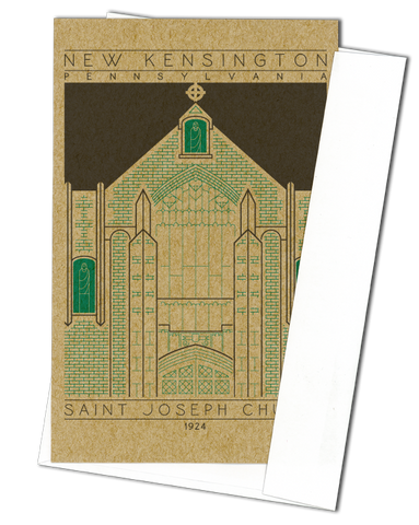 Saint Joseph Church - 1924 Green Miniature Digital Print