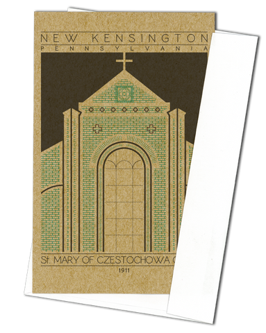 Saint Mary of Czestochowa Church - 1911 Green Miniature Digital Print