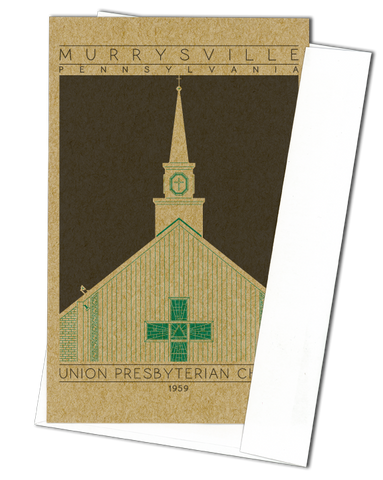 Union Presbyterian Church - 1959 Green Miniature Digital Print