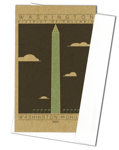 Washington Monument - 1885 Green Miniature Digital Print