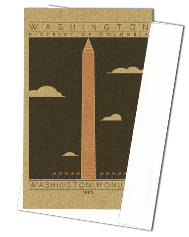 Washington Monument - 1885 Orange Miniature Digital Print