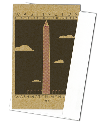 Washington Monument - 1885 Purple Miniature Digital Print