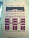 Wilkinsburg Pennsylvania Railroad Station - 1916 Purple Digital Print