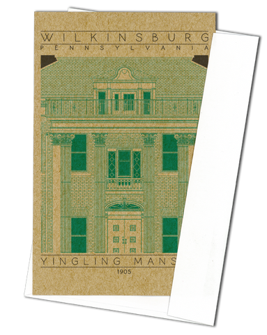 Yingling Mansion - 1905 Green Miniature Digital Print