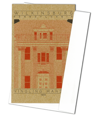 Yingling Mansion - 1905 Orange Miniature Digital Print