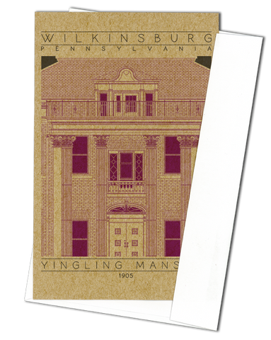 Yingling Mansion - 1905 Purple Miniature Digital Print