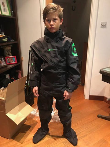 Max Steele showing off his NeilPryde Sailing Elite 3D Curve Drysuit