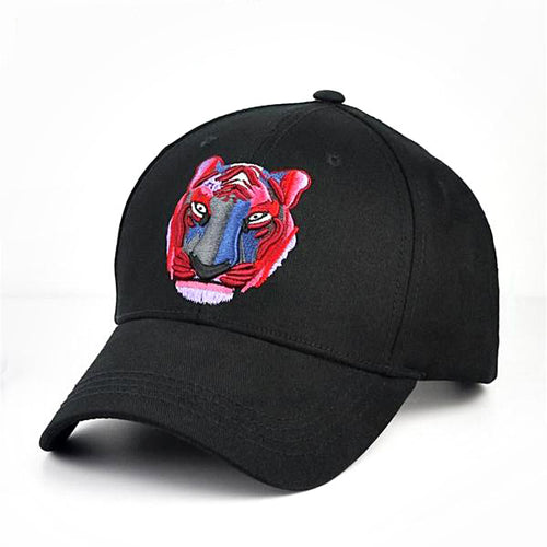 Red Tiger Cap - Black Unisex Embroidered Baseball Cap Hat - Horizon Ave.