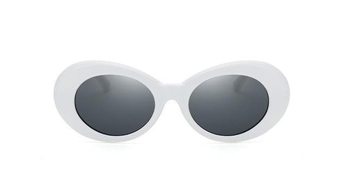 Kurt - White Oval Kurt Cobain Sunglasses - Horizon Ave.