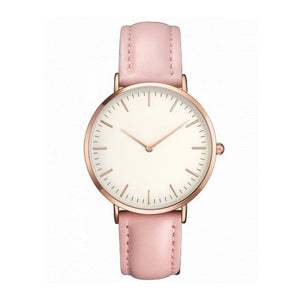 Essence - Simple High-Quality Minimal Watch with Pink Leather Strap - Horizon Ave.