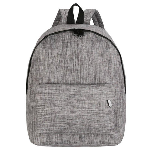 The Blank Canvas - Stone Grey - Canvas Backpack School College Bag - Horizon Ave.