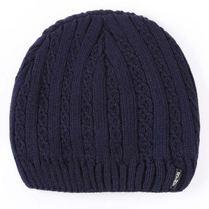 Knitted Warm Winter Beanie - Navy Blue