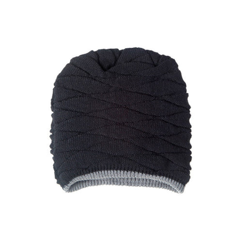 Black Knitted Winter Beanie - Soft Knit Wool, Warm & Comfy - Horizon Ave.