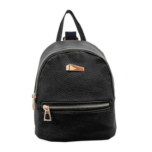The Statement - Black - Unique Fashionable Canvas Backpack Rucksack - HA.