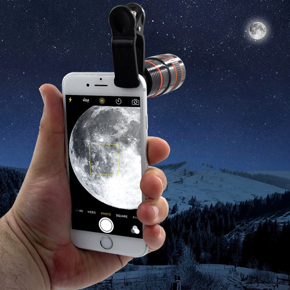 Universal 8x Optical Zoom Telescope Lens for All Mobile Phones with Adjustable Clip - LogicInside