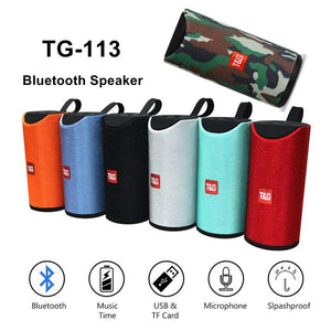 TG-113 : Portable Wireless Bluetooth Mini Splashproof Speaker with 10w Mp3 AUX USB FM Radio - LogicInside