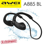 awei A885BL : Wireless IPX4 Waterproof Sports Bluetooth4.1 Stereo Headset With Mic & NFC - LogicInside