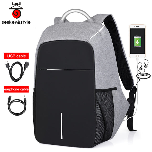 SenKey&Style:Premium Quality Waterproof AntiTheft Backpack with Charging & AUX Point - LogicInside