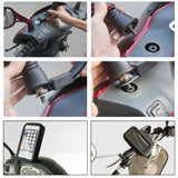 Premium Quality Universal Waterproof Bike Mobile Holder - Rear View Mirror Mount - LogicInside