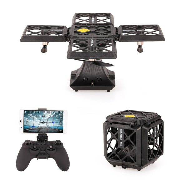 BLACK KNIGHT CUBE Drone With FPV 2MP Camera Altitude Hold - The Unique Foldable Quadcopter - LogicInside