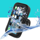 Premium Quality Waterproof Motorcycle-Bicycle Handlebar Mount Case For All Mobiles - LogicInside