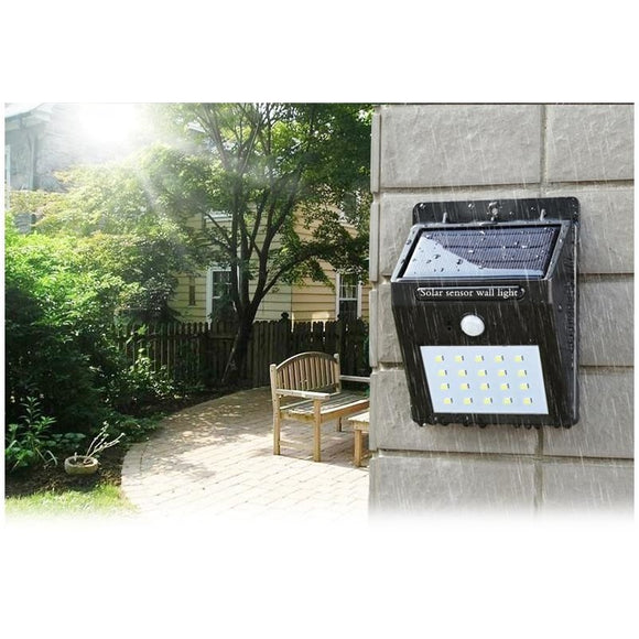 Solar Charged Motion Sensor Based Waterproof Automatic LED Wall Light - LogicInside