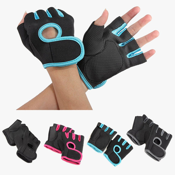 Anti-Skid Half Finger Glove for Men & Women for Sports, Fitness, Cycling, Biking, Exercising - LogicInside