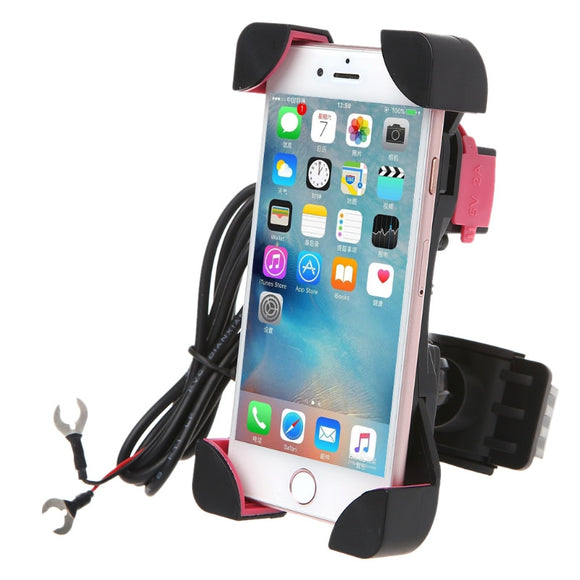 Universal Premium Quality Bike Bicycle Holder With Charging Point - Handlebar Mount - LogicInside