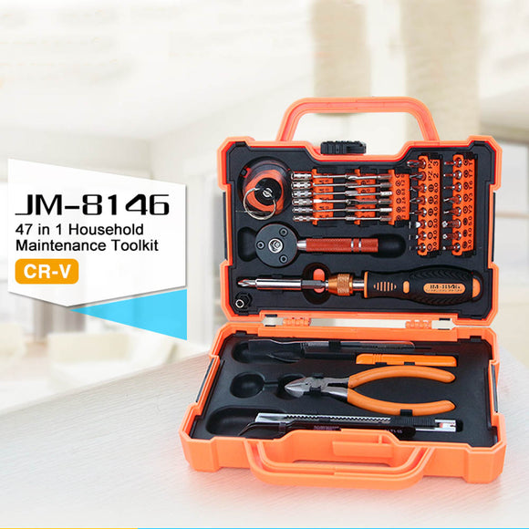 JAKEMY JM-8146 : 47in1 Multifunctional Household Maintenance Tools Kit Screwdriver Set - LogicInside