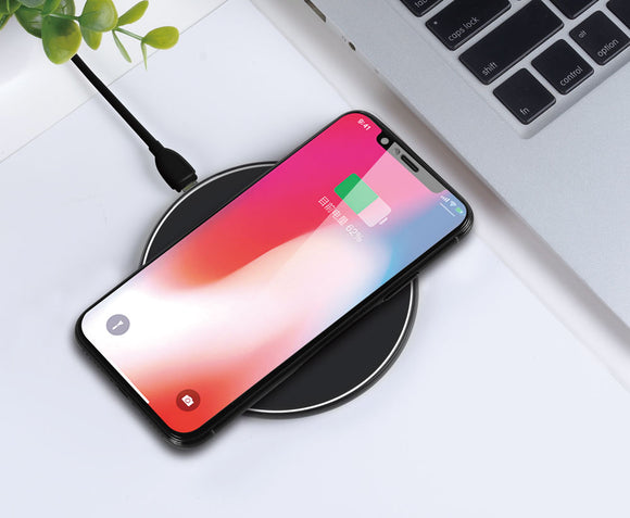 XO WX002 : Premium Quality Wireless Charger for Qi-Standard Mobile Devices iPhone, Samsung, Nokia, - LogicInside