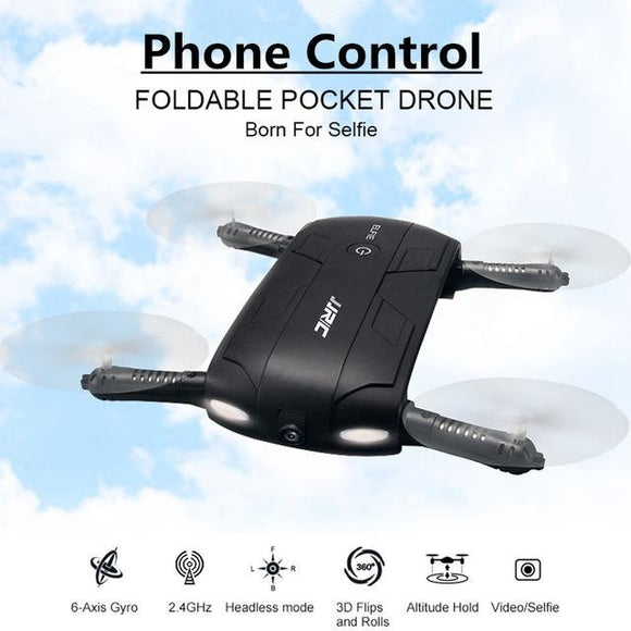 JJRC H37 ELFIE Selfie Foldable Pocket Drone WiFi FPV RC with HDCamera - LogicInside