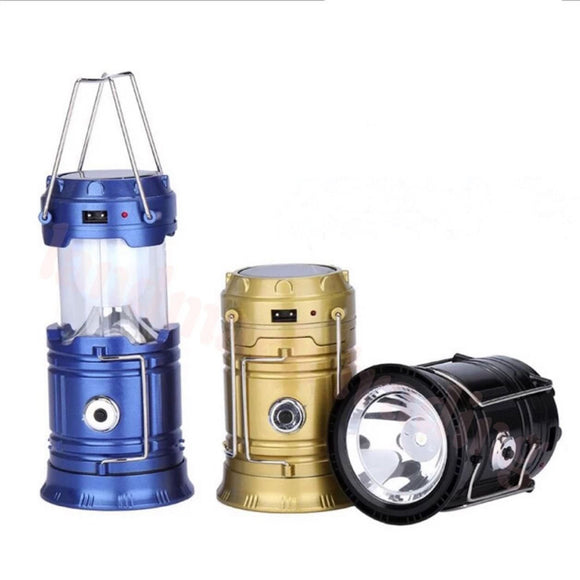 Multi Featured 6 in 1 Solar Chargeable LED Lantern with USB Charging Point - LogicInside