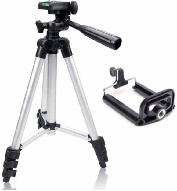 Premium Quality Portable Tripod 3110A - Light Weight Metal Extendable With Built In Level Indicator - LogicInside